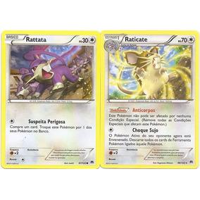 Carta Pokemon - Rattata/raticate - Turbo Colisão