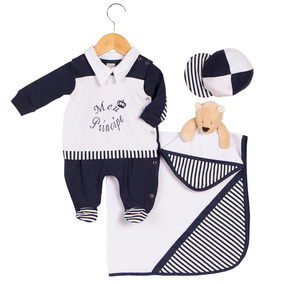 7220b56a9 Kit Berco Menino Principe Com Saida De Maternidade - Bebês no ...