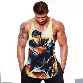 Camiseta Regata Cavada Heróis Musculação Pronta Entrega