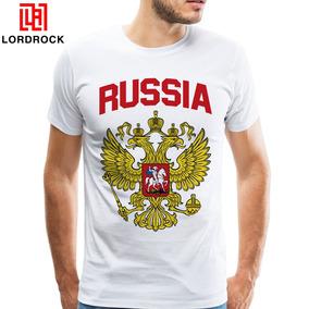 2018 Hombres Tendencia Camiseta Escudo De Armas De Rusia Man 22dee96847c08