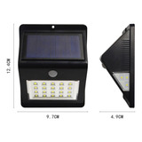 Lámpara Solar Led Con Sensor De Movimiento, Exteriores Ip64