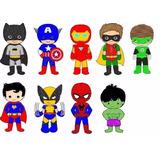 Matriz Bordado Computadorizado Super Heróis Criança 001