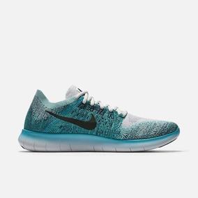Tênis De Corrida Nike Free Rn Flyknit 2017 Verde Original