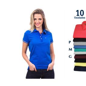 3602be3e93 Kit Camisas Polo Feminina - Pólos Manga Curta Femininas no Mercado ...