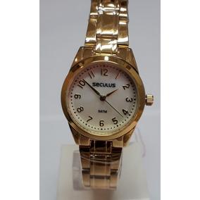 39b61294ca0 Relogio Feminino Dourado De Numero - Relógio Feminino no Mercado ...