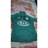 Camisa Do Palmeiras Oficial 2012/2013 #10 adidas/kia Usada