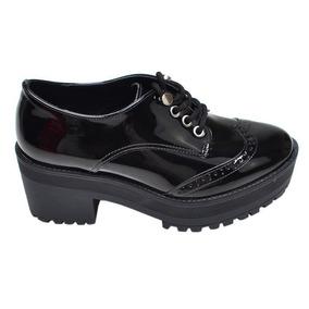 3df60a338f Sapato Oxford Sola Tratorada Preto Via Marte - Sapatos no Mercado ...