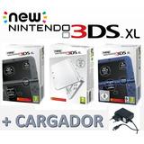 Nintendo 3ds Xl New + Cargador De Pared Original Nueva