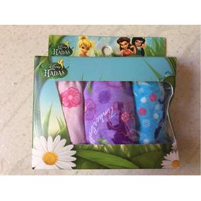 Calzones Bikini 3 Piezas De Niña De Disney Hadas Talla 4