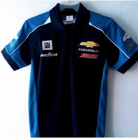 Playera Polo Chevrolet Gm Good Year Racing Caballero Azul