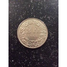 Moneda 2 Francos Suizos 1963 Peso 10 Gramos Km#21 En Capsula