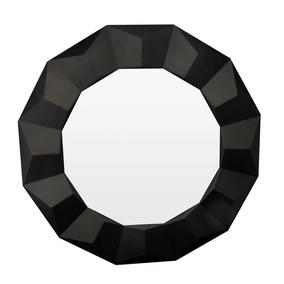 Espelho Preto Médio Decorativo Sala Escritório 60x60x4cm