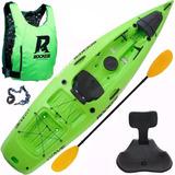 Kayak Rocker Wave Con Asiento Rigido Salvavidas Remo
