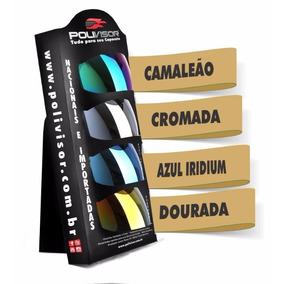 Viseira Do Agv K3 K4 Fumê, Camaleão, Azul Iridium. Dourada