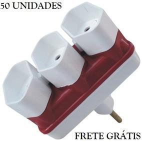 50 Unidades - Benjamim Adaptador 3 Saídas 10a - Frete Grátis
