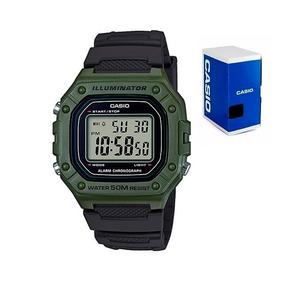 1bac4500e9c5 Reloj Casio W218 Verde Sumergible Bicolor Envío Gratis