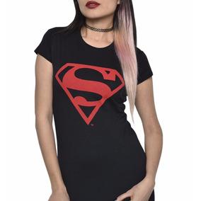 Playera Superman Black Mujer Con Envio Gratis