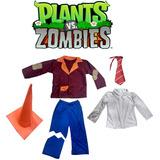 Disfraz Zombie Cono Plantas Vs Zombies - Random Comics