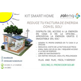 Kit Energía Solar Hogar Smart Home Panel + Inversor A Red
