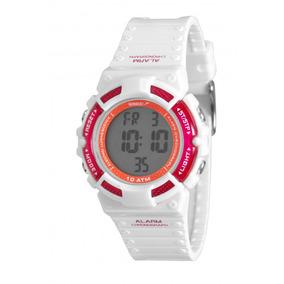 Relógio Feminino Digital Branco Com Rosa Esportivo Speedo