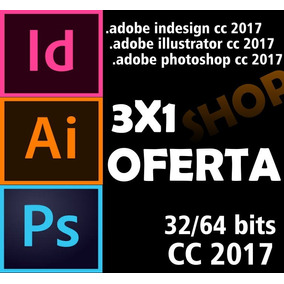 3x1 Adobe Illus-trator Photo-shop Inde-sign Cc 2017 Oferta