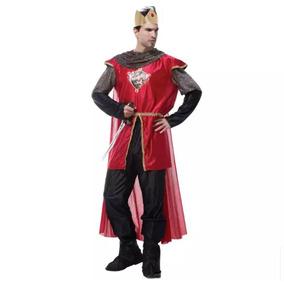 Fantasia Vestido Medieval Guerreiro Príncipe Roma Adulto