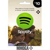 Tarjetas Spotify $10 - $60 Gift Card