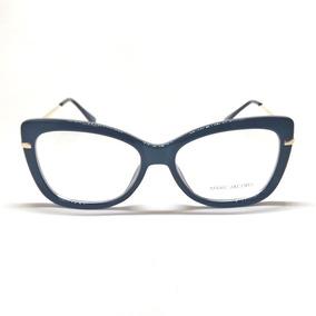 Armação De Grau Feminino Estilo Gatinho Acetato Com Brinde - Óculos ... 8ddd48ef58