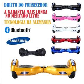 6 Polegadas Hoverboard Skate Electrico Bluetooth Dourado