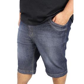 Kit 05 Bermudas Jeans Masculina C/ Elastano 2 A 58 Plus Size