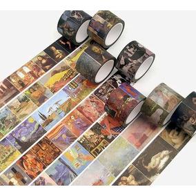 Fita Decorativa Washi Tape Pinturas Famoso