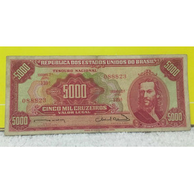 Cédula 5.000 Mil Cruzeiros C 107 Tiradentes Mbc