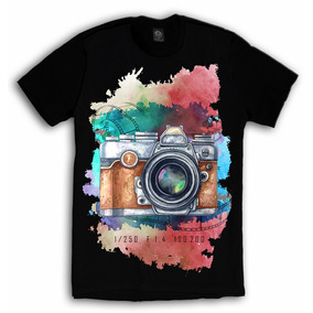 0f4d7d6121 Camiseta Personalizada Fotografia Aquarela Fotógrafo