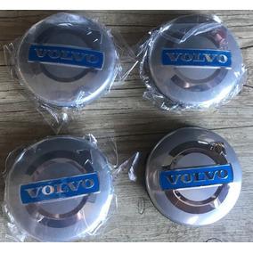 Calota Centro Roda Volvo 64mm C30 Xc90 S80 S60 - Kit 4 Peças