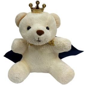 Mini Chaveiro Urso Principe Creme - Lembrancinha Jg 06 Peças