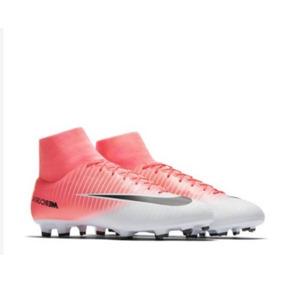 Chuteira Nike Mercurial Victory Vi Campo Branco Com Rosa - Chuteiras ... f4985a846987a