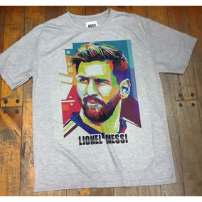 Remeras Del Barcelona Messi - Remeras Manga Corta de Hombre Plateado ... 60c18a44983