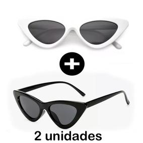 2x Óculos De Sol Feminino Gatinho Estiloso Proteção 2018 86404880d5