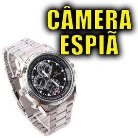 caef2ad7a50 Relógio De Pulso Espião Filma Grava Video Tira Foto - Câmera de ...