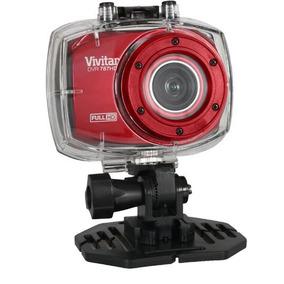 Câmera Filmadora De Ação Full Hd Com Caixa Estanque Vermelho