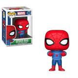 Funko Pop Marvel Spiderman W/ Ugly Sweater Navidad Reyes