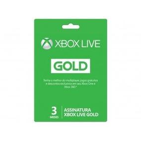 Cartão Microsoft Xbox Live Gold 3 Meses - Para Xbox One