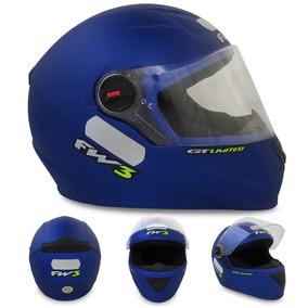 Capacete Helt New Race Step Azul Fosco Yamaha Fw3