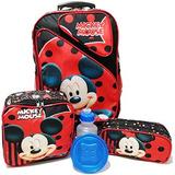 Kit Mochila Infantil Mickey Mouse G Com Lancheira E Estojo