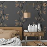 Stencil Enredadera Plantilla Decorativa Reusable Para Pintar