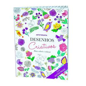 Livro Desenhos Criativos Para Colorir E Relaxar