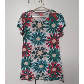 Blusa Feminina Bata Estampa De Flores Puc Tam 12 Roupa