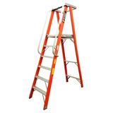 Escaleras De Tijeras Plataformas En Fibras De Vidrios 6 Pies
