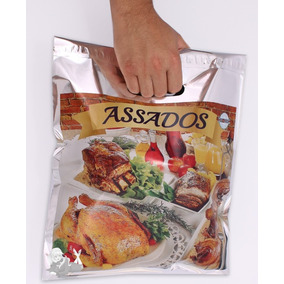 Embalagem Frango Assado Sacola Térmica Resistente - 400 Unid