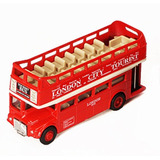 Miniatura Onibus De Londres Dois Andares Panoramico 12 Cm.